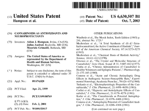 2003 US Government Patent on Cannabis