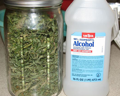 Cannabis Rubbing Alcohol